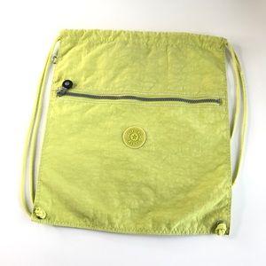 Kipling Supertaboo Drawstring Backpack Neon Green